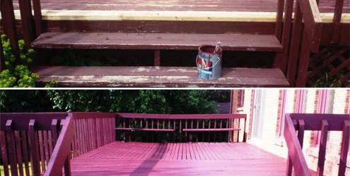 Les avantages de peindre votre terrasse